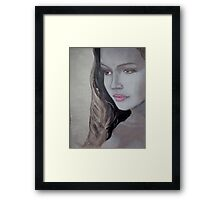 After Glow - Her face reflects the quiet bliss of flowing back into reality  Framed Print