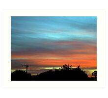 sunset suburbia Art Print