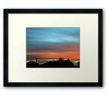 sunset suburbia Framed Print