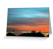 sunset suburbia Greeting Card
