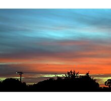 sunset suburbia Photographic Print