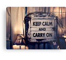 Keep Calm && Carry On Metal Print