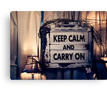 Keep Calm && Carry On Canvas Print