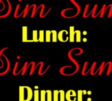 Today's Menu: Dim Sum Sticker