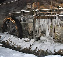 Icy water mill by Adri  Padmos