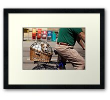 I'd Rather be Pedaling Framed Print
