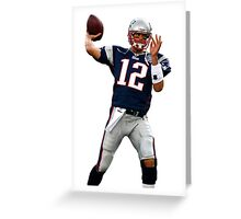 Tom Brady Pass/Throw Greeting Card