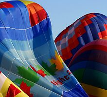 Inflation  - Gatineau Balloon Festival, Quebec by Debbie Pinard