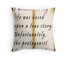 Biographical Self-Discovery Throw Pillow