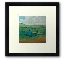 Dry Hills Framed Print