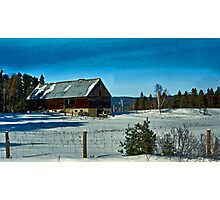 Barn in Winter Photographic Print