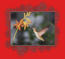 Female Ruby-Throated Hummingbird Kids Tee