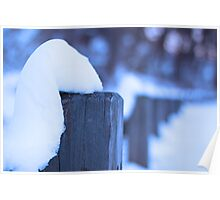 Winter fence. Poster