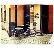 Bicycle in Stockholm Poster