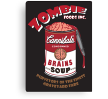 Canned Zombie Canvas Print