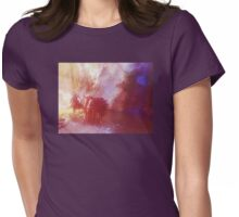 3 Horses in a Waterfall Womens Fitted T-Shirt