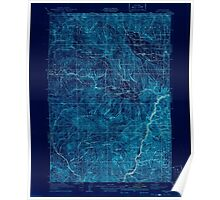 USGS Topo Map Oregon Pine 283240 1915 125000 Inverted Poster