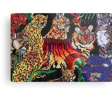 Tigers Forest Metal Print