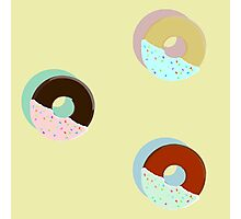 A Trio of Half-Dipped Donuts Photographic Print