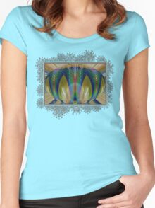 Salsify Abstract Women's Fitted Scoop T-Shirt
