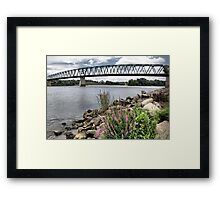 Spanning the Ohio River Framed Print