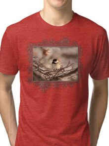 Black-Capped Chickadee After the Ice Storm Tri-blend T-Shirt