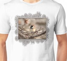 Black-Capped Chickadee After the Ice Storm Unisex T-Shirt