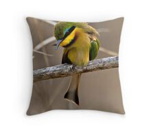 Little Bee Eater Throw Pillow