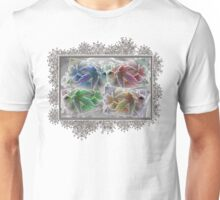 Frosted Maple Leaves in Pop Art Colours Unisex T-Shirt