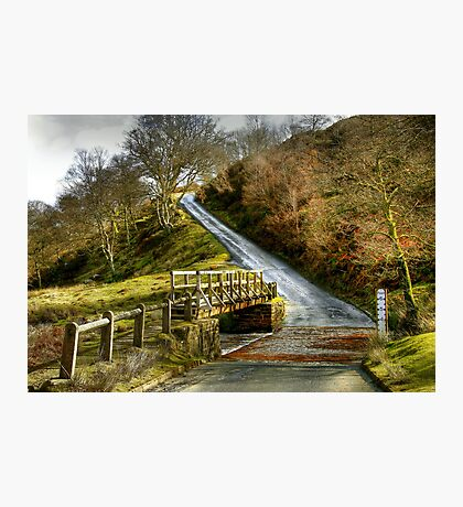 Footbridge Beside the Road to Westerdale Photographic Print