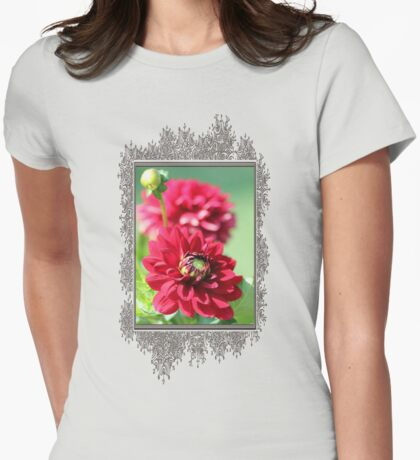 Dahlia named Caproz Jerry Garcia Womens Fitted T-Shirt
