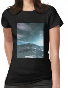 The Mountains of Sirius Beta Womens Fitted T-Shirt