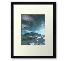 The Mountains of Sirius Beta Framed Print