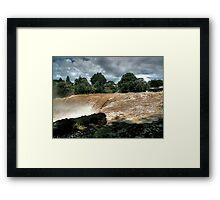 Cyclone Wilma. Framed Print