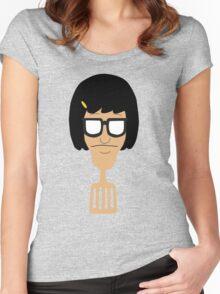 Tina Belcher Spatula  Women's Fitted Scoop T-Shirt