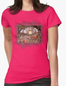 American Goldfinch in Winter Womens Fitted T-Shirt