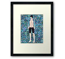 Free Iwatobi Swim Club Haruka Nanase Framed Print