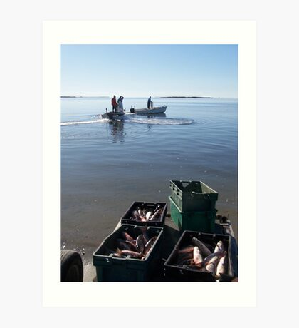 mullet fishers Art Print