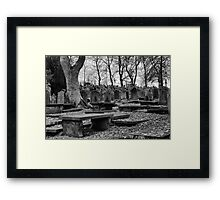 A Grave Experience Framed Print