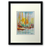 AUTUMN IN PASTEL COLORS - WATERCOLOR Framed Print