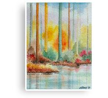 AUTUMN IN PASTEL COLORS - WATERCOLOR Canvas Print