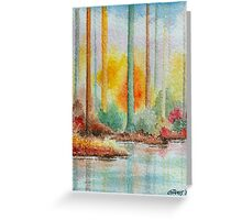AUTUMN IN PASTEL COLORS - WATERCOLOR Greeting Card