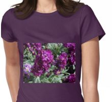 Vibrant Purple Scented Stocks Womens Fitted T-Shirt