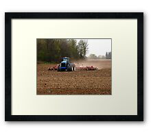 Cultivating the Soil in May Framed Print