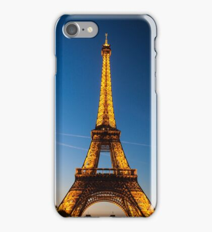 Eiffel Tower and sunset iPhone Case/Skin