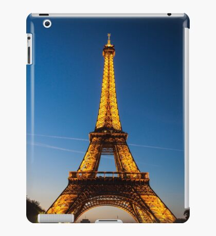 Eiffel Tower and sunset iPad Case/Skin