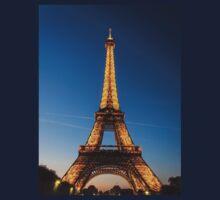 Eiffel Tower and sunset Kids Tee