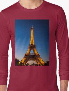 Eiffel Tower and sunset Long Sleeve T-Shirt