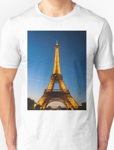 Eiffel Tower and sunset Unisex T-Shirt