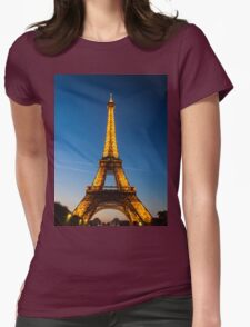 Eiffel Tower and sunset Womens Fitted T-Shirt